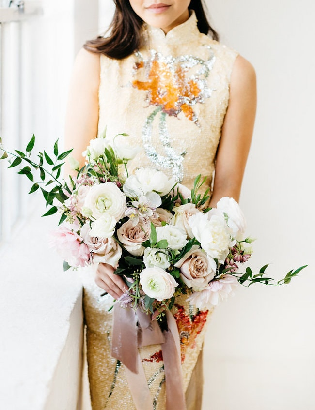 Vietnamese Tea Ceremony Dress | Credit: Peaches With Honey