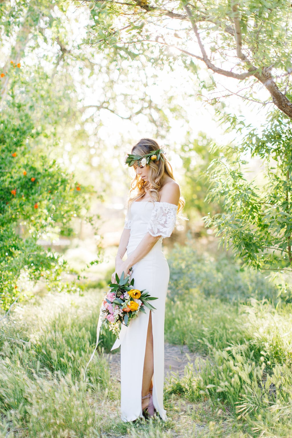 Budget Boho Wedding Dress | Credit: Julia Stockton Photography