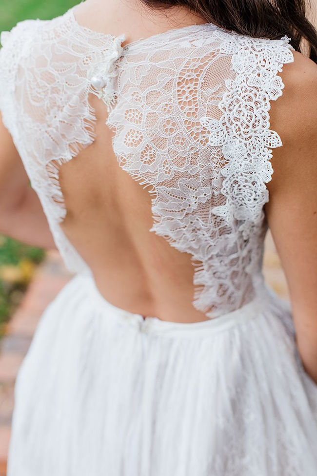 Backless Lace Wedding Dress | Credit: Werner J Photography