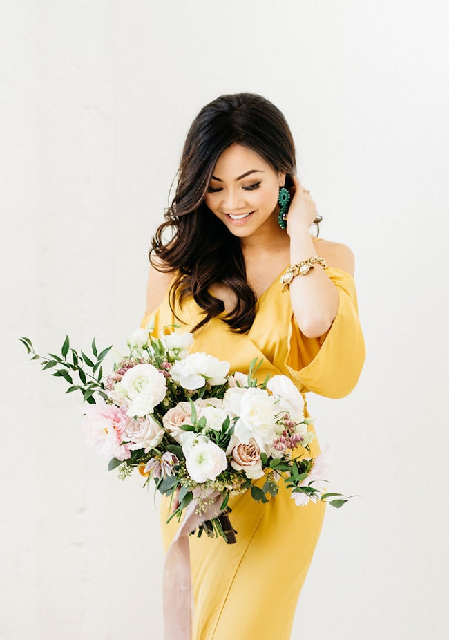 Yellow Wedding Dress | Credit: Peaches With Honey