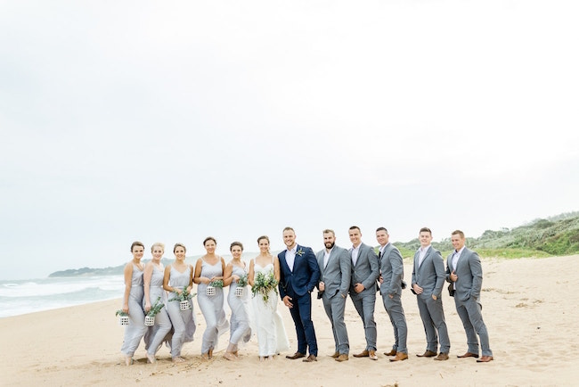 Dreamy Beach Wedding Bridal Party | Credit: Grace Studios / Absolute Perfection