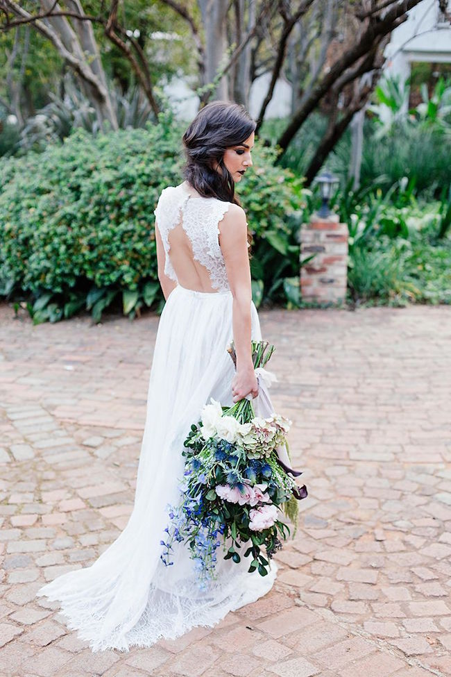 Blue Wedding Bouquet | Credit: Werner J Photography