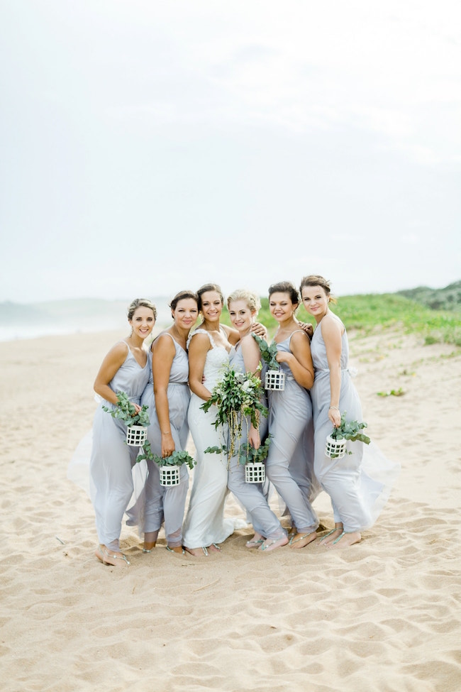 Dreamy Beach Wedding Bridesmaids | Credit: Grace Studios / Absolute Perfection