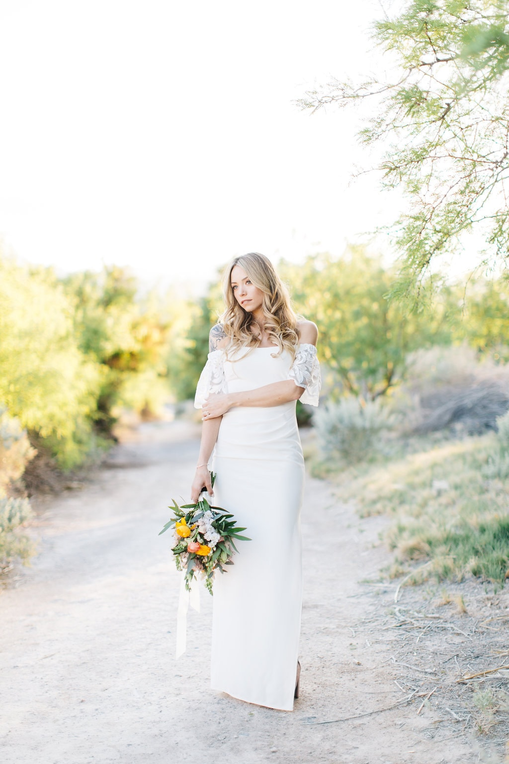 Off the Shoulder Wedding Dress | Credit: Julia Stockton Photography