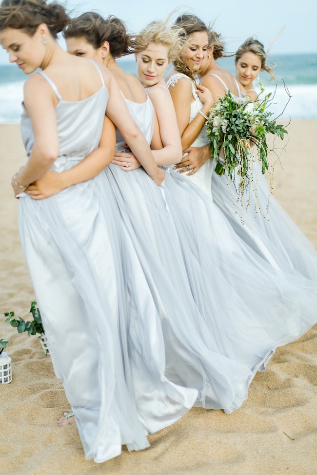 Ethereal Beach Bridesmaid Dresses | Credit: Grace Studios / Absolute Perfection