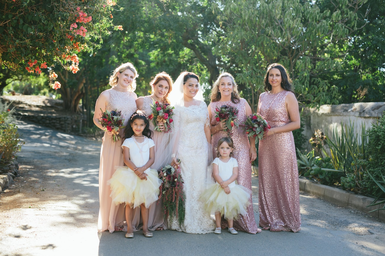 Sequin and Tulle Bridesmaid and Flower Girl Dresses | Credit: Vivid Blue