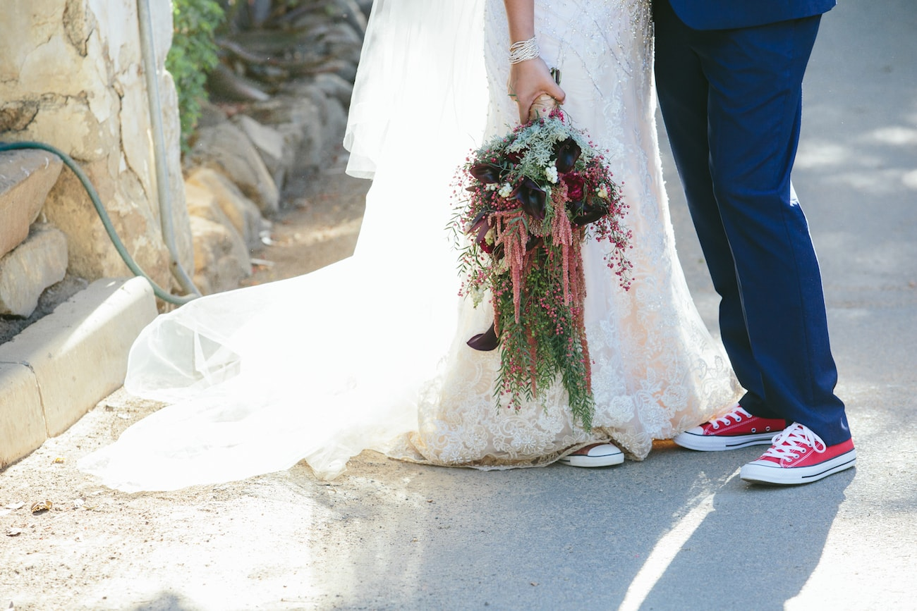 Converse Wedding Shoes | Credit: Vivid Blue