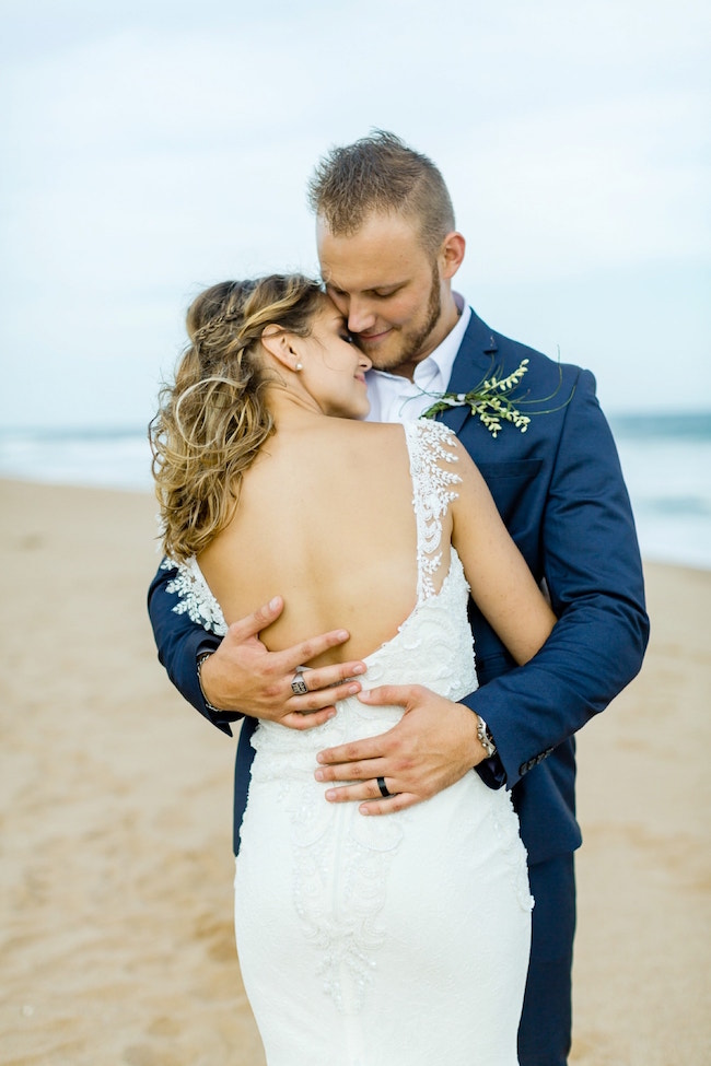 Dreamy Beach Wedding Couple | Credit: Grace Studios / Absolute Perfection