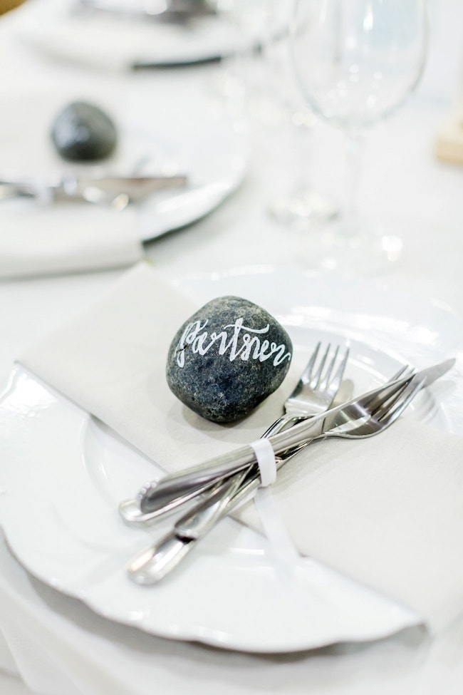 Calligraphy Stones Place Marker | Credit: Grace Studios / Absolute Perfection