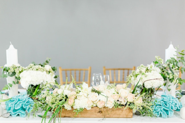 Beach Wedding Centerpiece | Credit: Grace Studios / Absolute Perfection