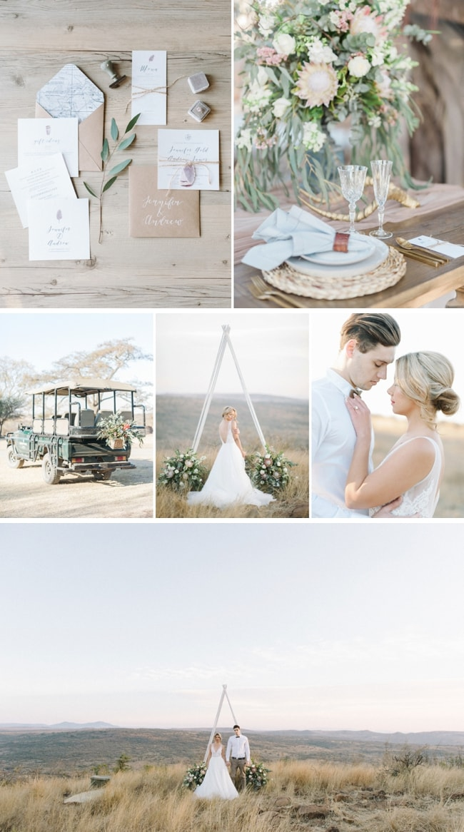 Luxury Safari Wedding Inspiration by Oh Happy Day & Bright Girl | SouthBound Bride