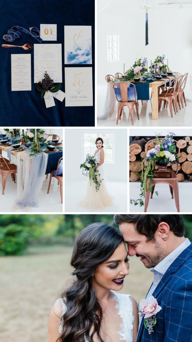 Moody Blues Winter Elopement Inspiration by Werner J Photography | SouthBound Bride