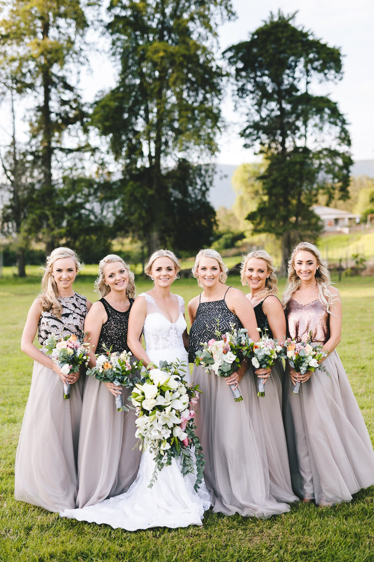 Mismatched Bridesmaid Separates | Credit: Charlie Ray Photography
