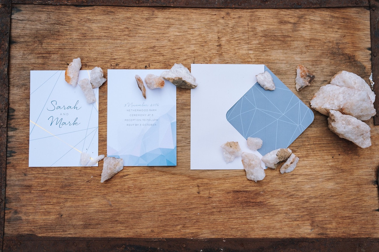 Natural Geometric Invitation Suite | Credit: The Shank Tank