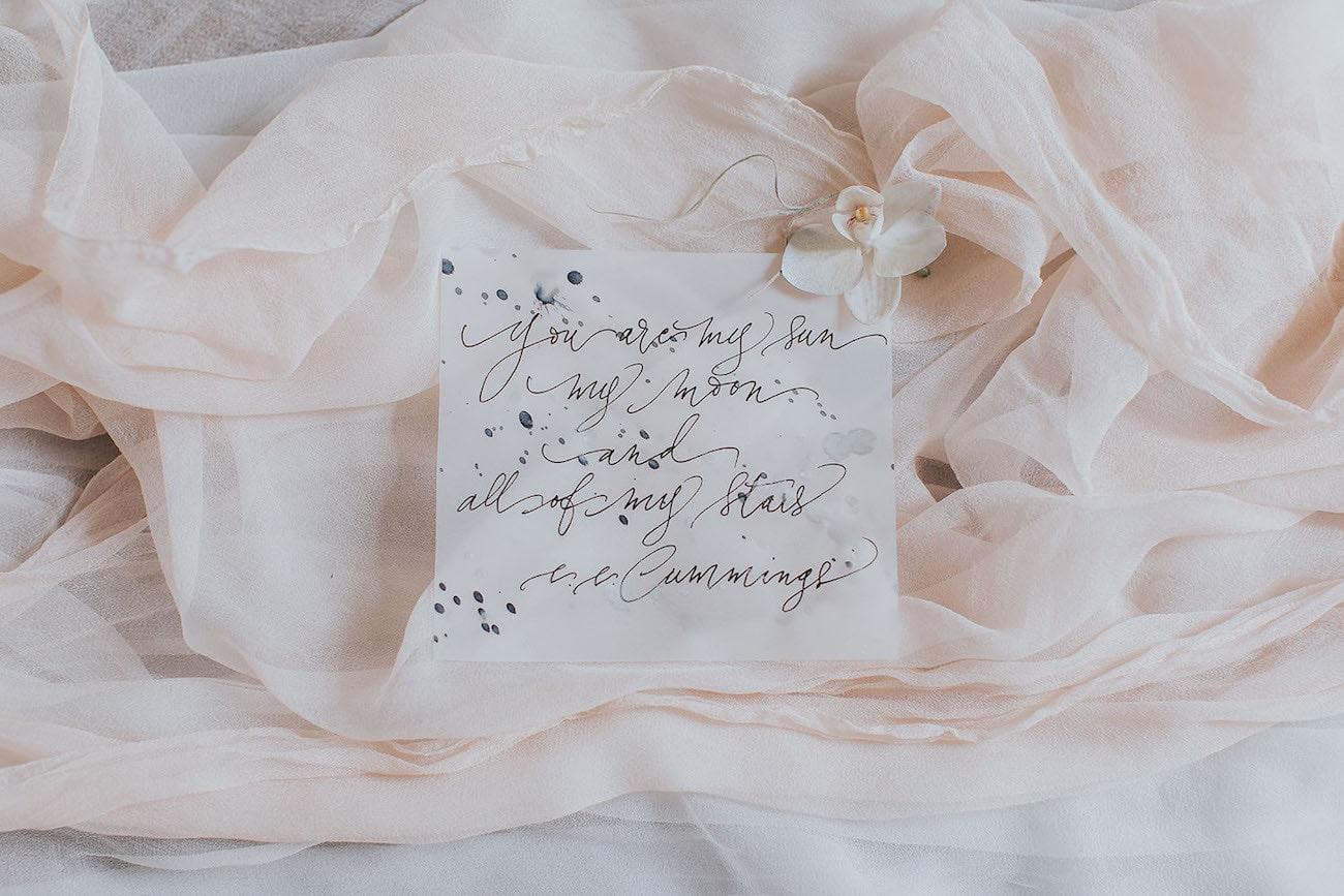 Wedding Calligraphy | Credit: Cornelia Lietz