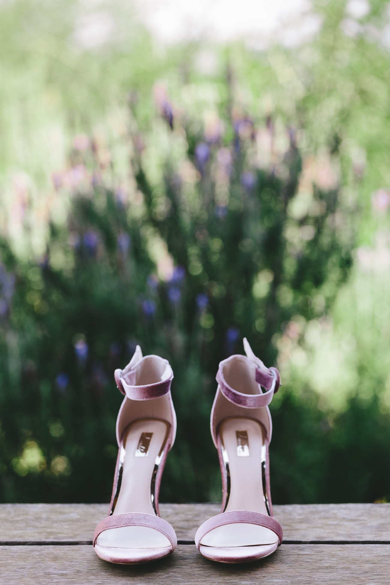Lavender Wedding Shoes   Credit: Charlie Ray Photography