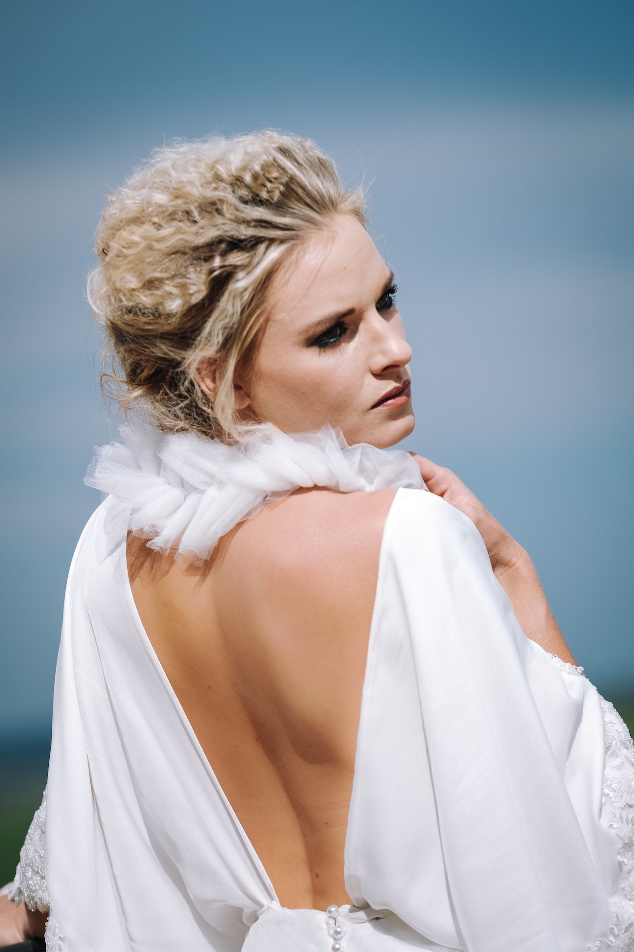 Backless Wedding Dress | Atmospheric Wedding Inspiration | Credit: The Shank Tank