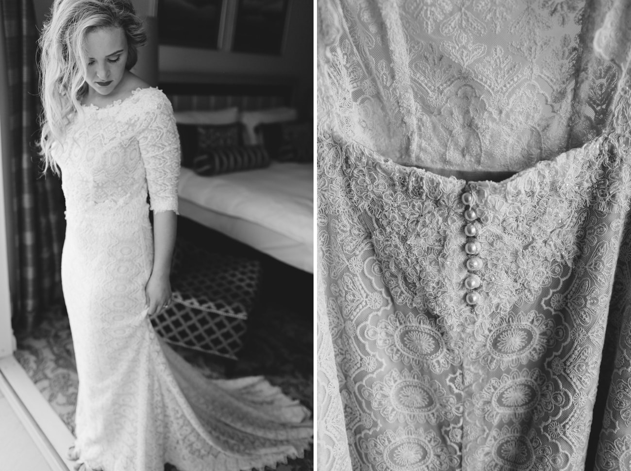 Long Sleeve Lace Wedding Dress | Vintage Chic City Wedding at the Cape Town Club | Credit: Duane Smith