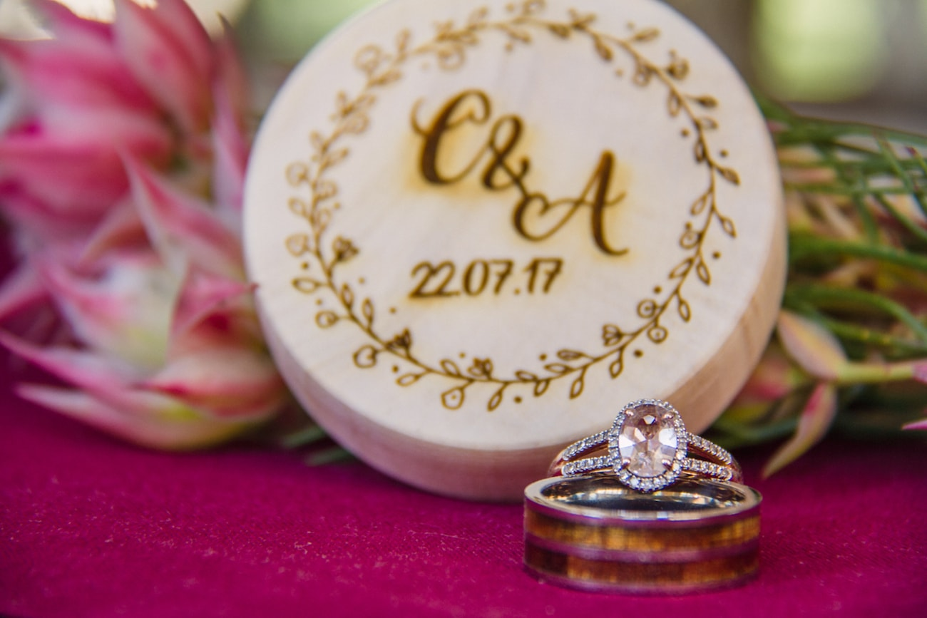 Rings & Ring Box | Joyous Jewel Tone Winter Wedding | Credit: Dust and Dreams Photography