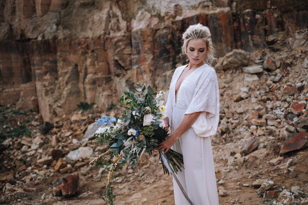 Loose Wedding Bouquet | Atmospheric Wedding Inspiration | Credit: The Shank Tank