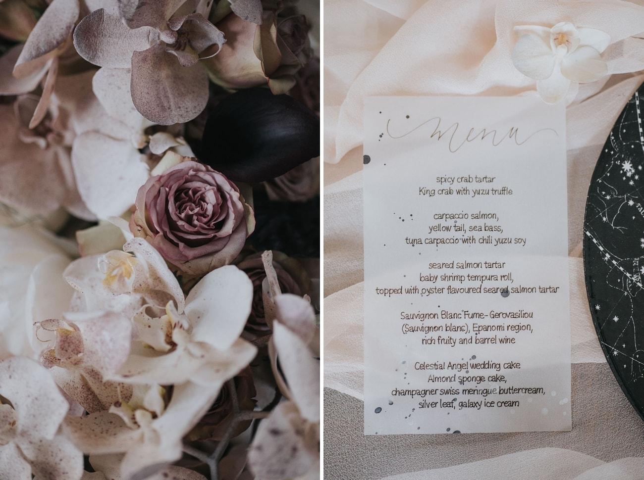 Velum Wedding Menu | Credit: Cornelia Lietz