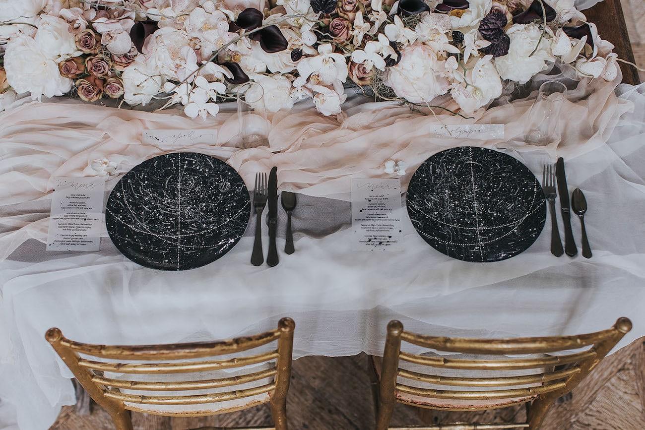 Celestial Wedding Table Decor | Credit: Cornelia Lietz