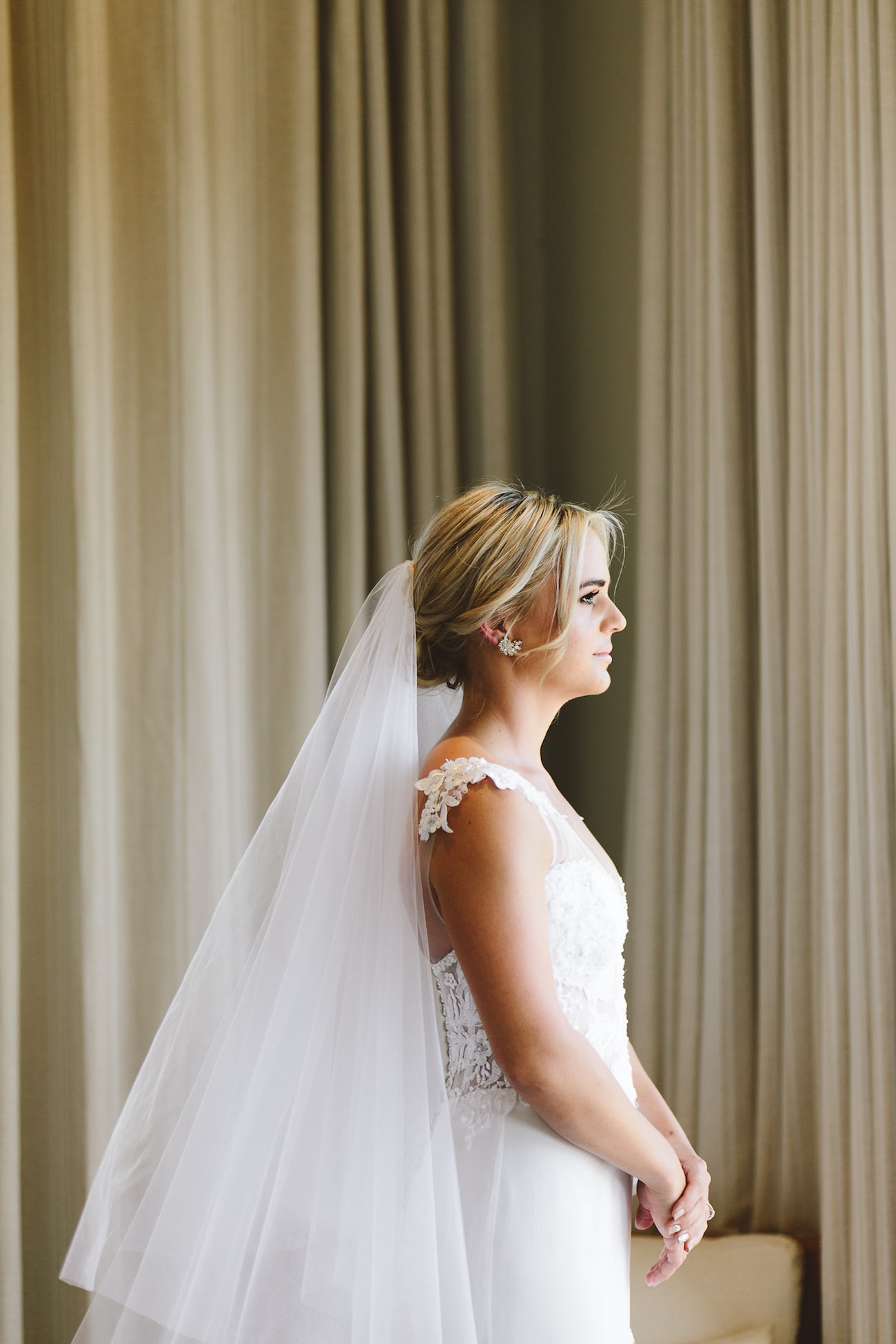 Lace Bodice Wedding Dress   Credit: Charlie Ray Photography