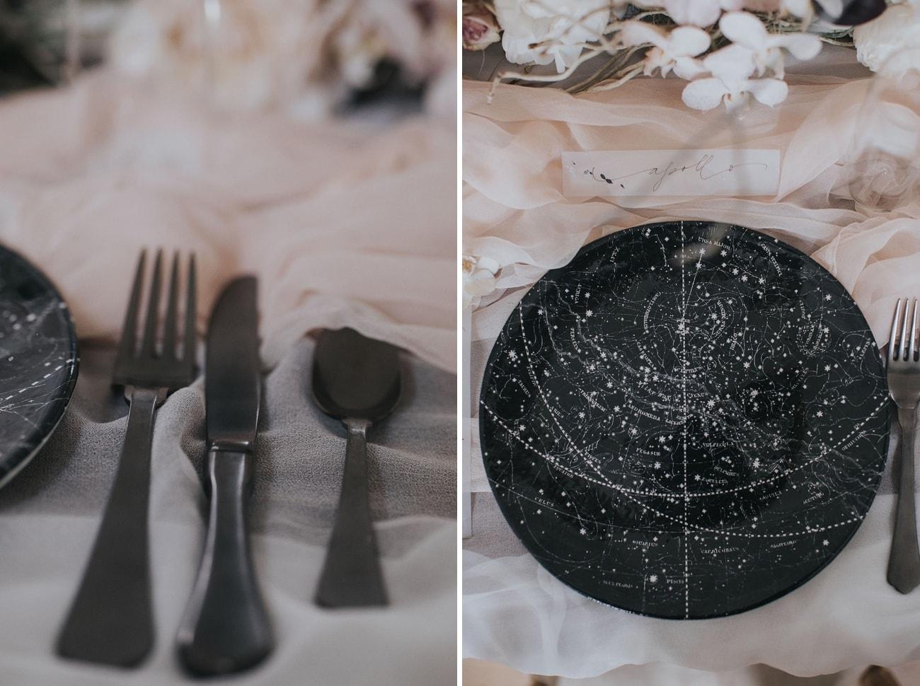 Celestial Wedding Place Setting | Credit: Cornelia Lietz