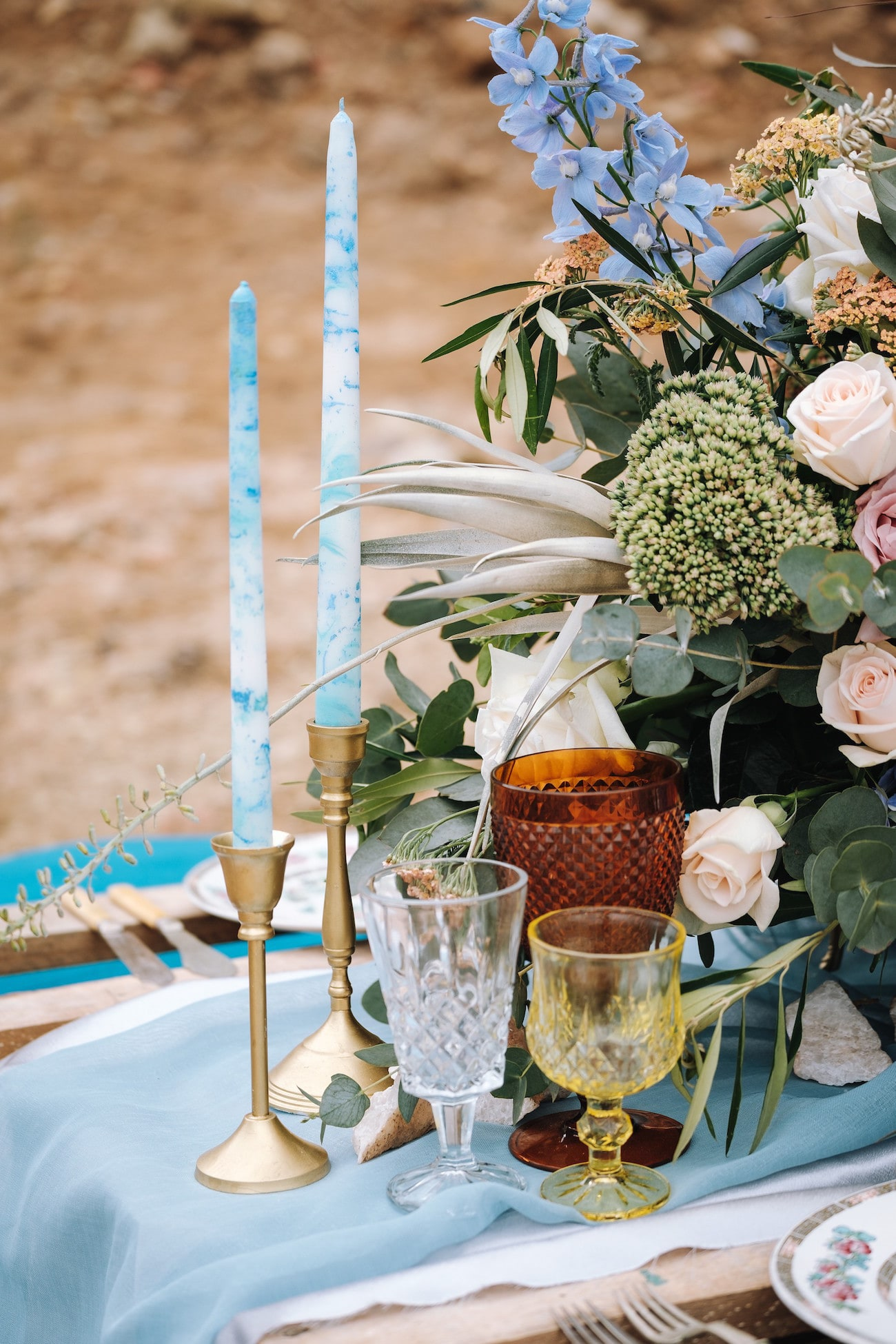 Boho Luxe Centerpiece | Atmospheric Wedding Inspiration | Credit: The Shank Tank
