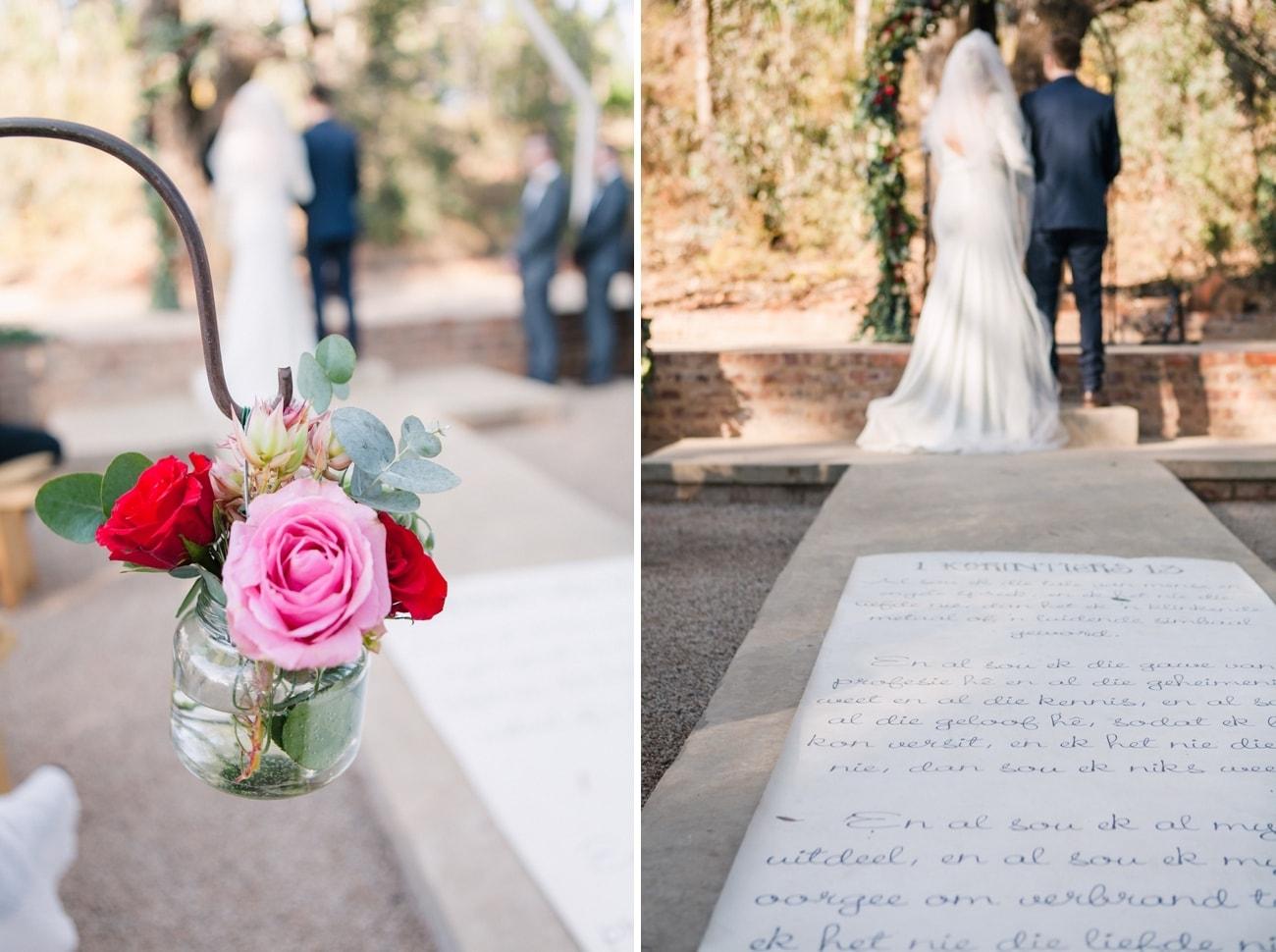 Ceremony Decor | Joyous Jewel Tone Winter Wedding | Credit: Dust and Dreams Photography