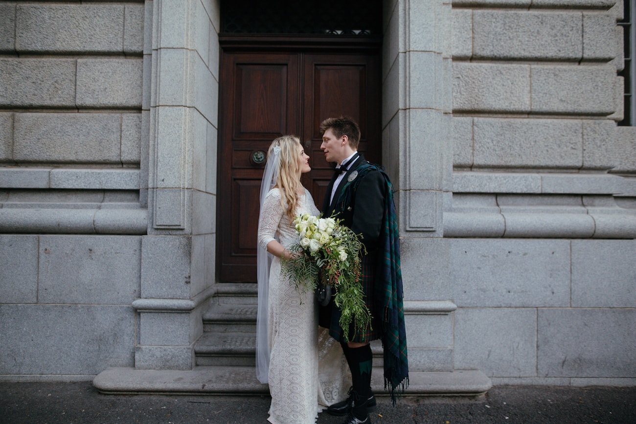 Bride and Groom | Vintage Chic City Wedding at the Cape Town Club | Credit: Duane Smith