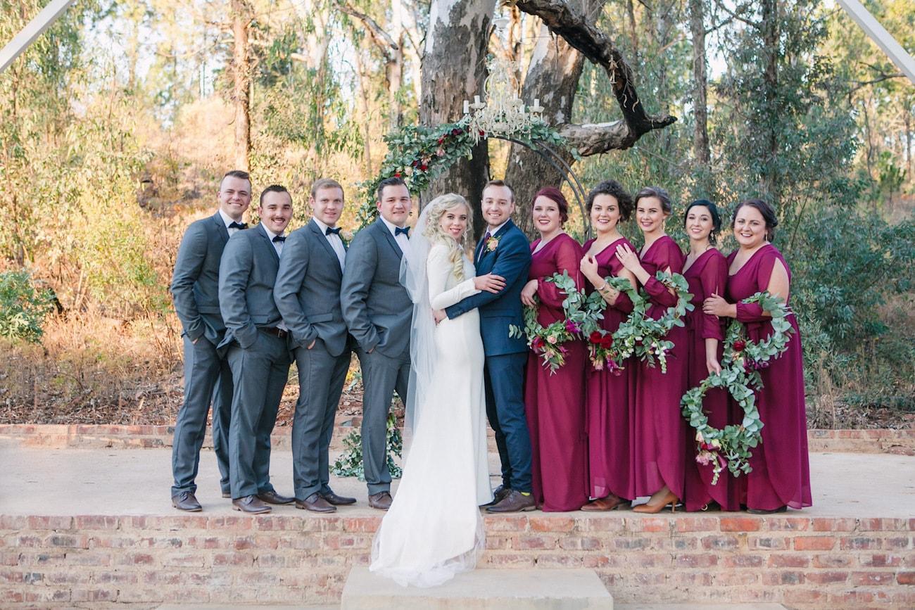 Wedding Party | Joyous Jewel Tone Winter Wedding | Credit: Dust and Dreams Photography