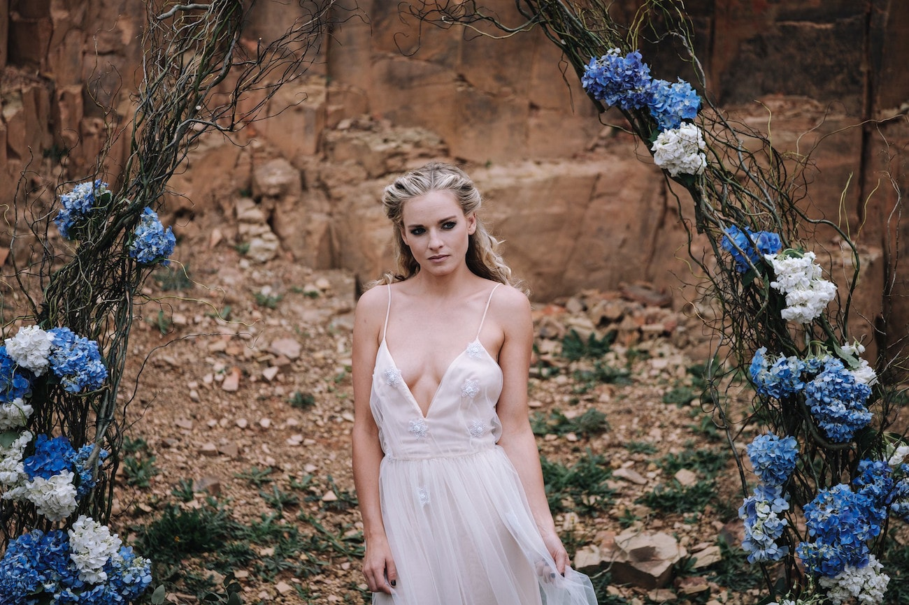 Floral Ceremony Arch | Atmospheric Wedding Inspiration | Credit: The Shank Tank