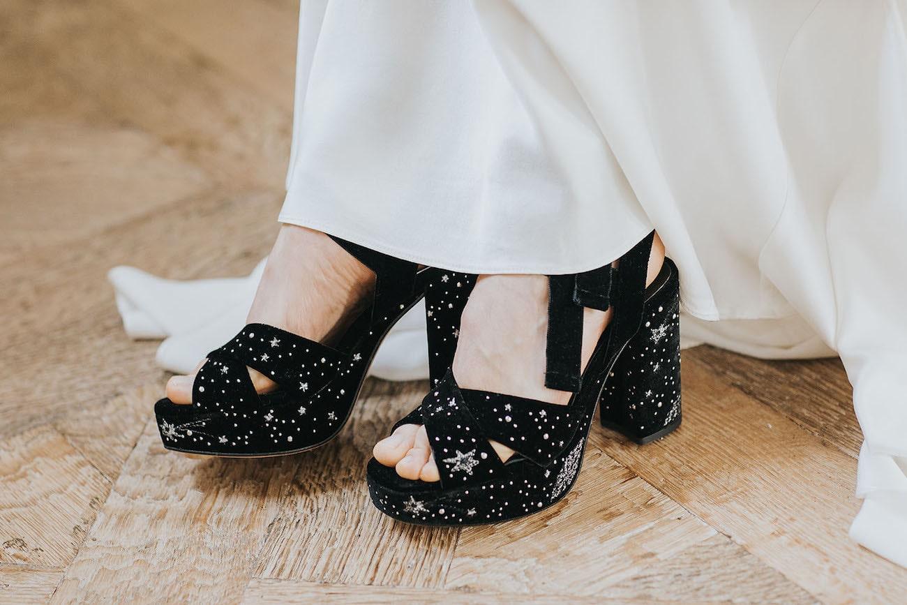 Starry Night Wedding Shoes | Credit: Cornelia Lietz