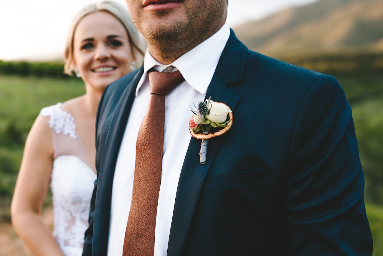 Copper Boutonniere | Credit: Charlie Ray Photography