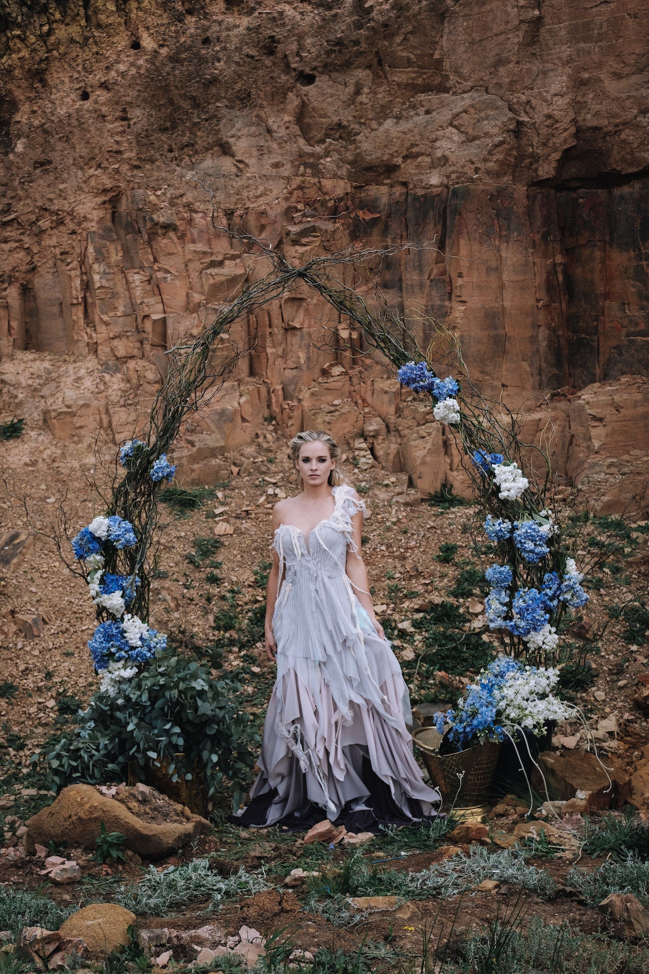 Boho Floral Wedding Arch | Atmospheric Wedding Inspiration | Credit: The Shank Tank