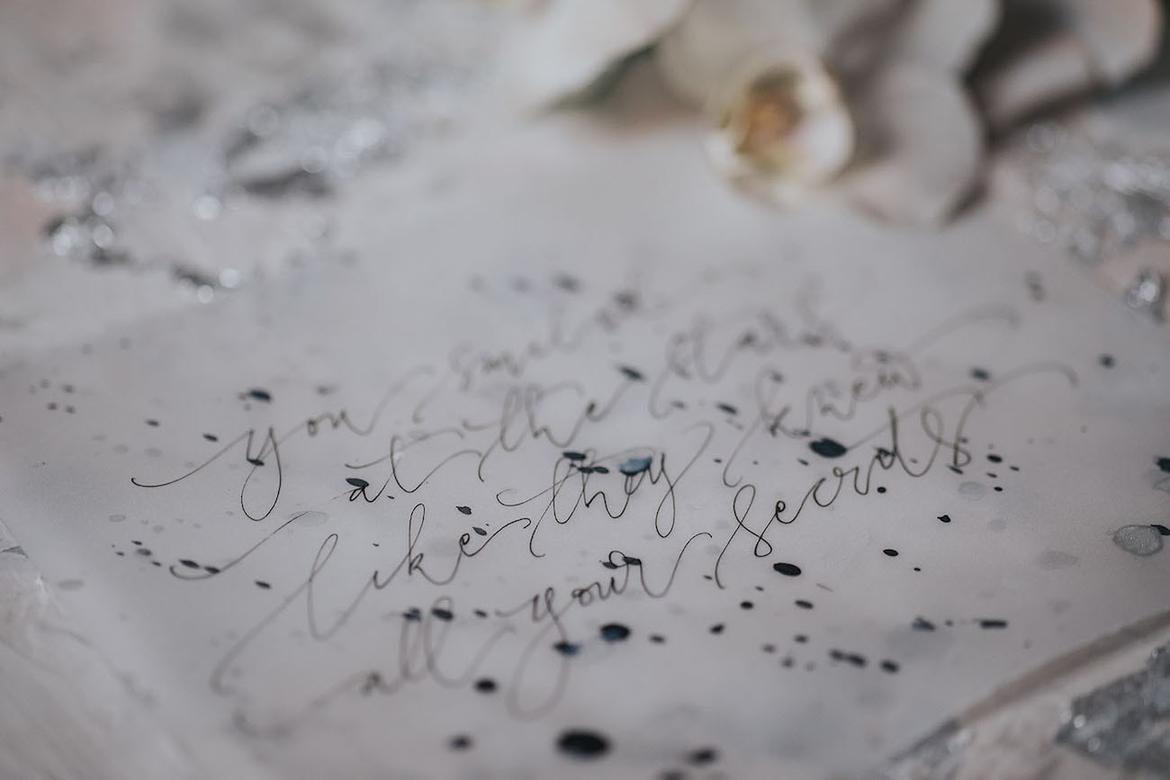 Calligraphy Quote | Credit: Cornelia Lietz