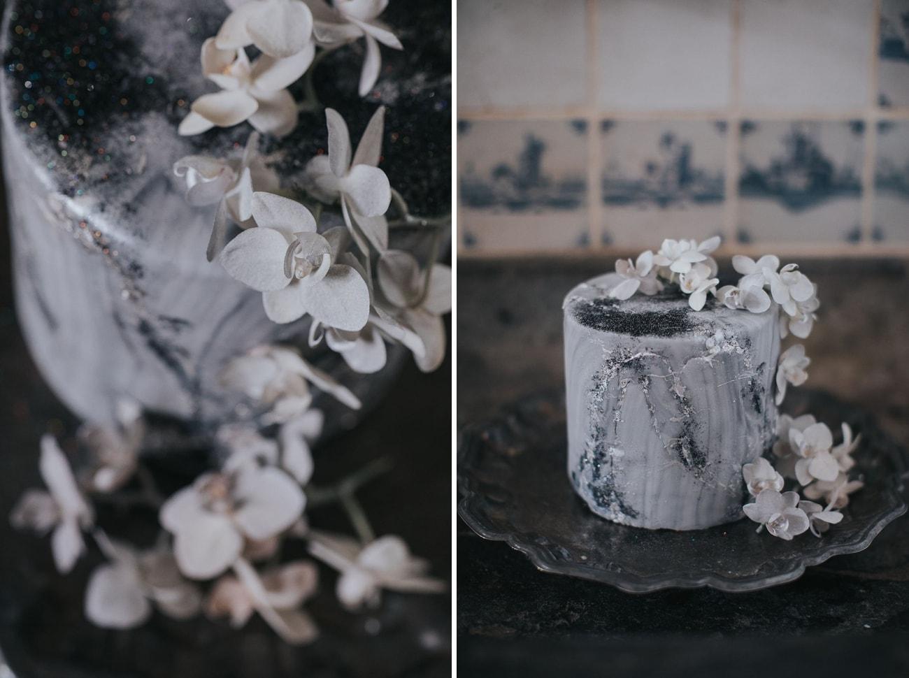 Silver Galaxy Wedding Cake | Credit: Cornelia Lietz