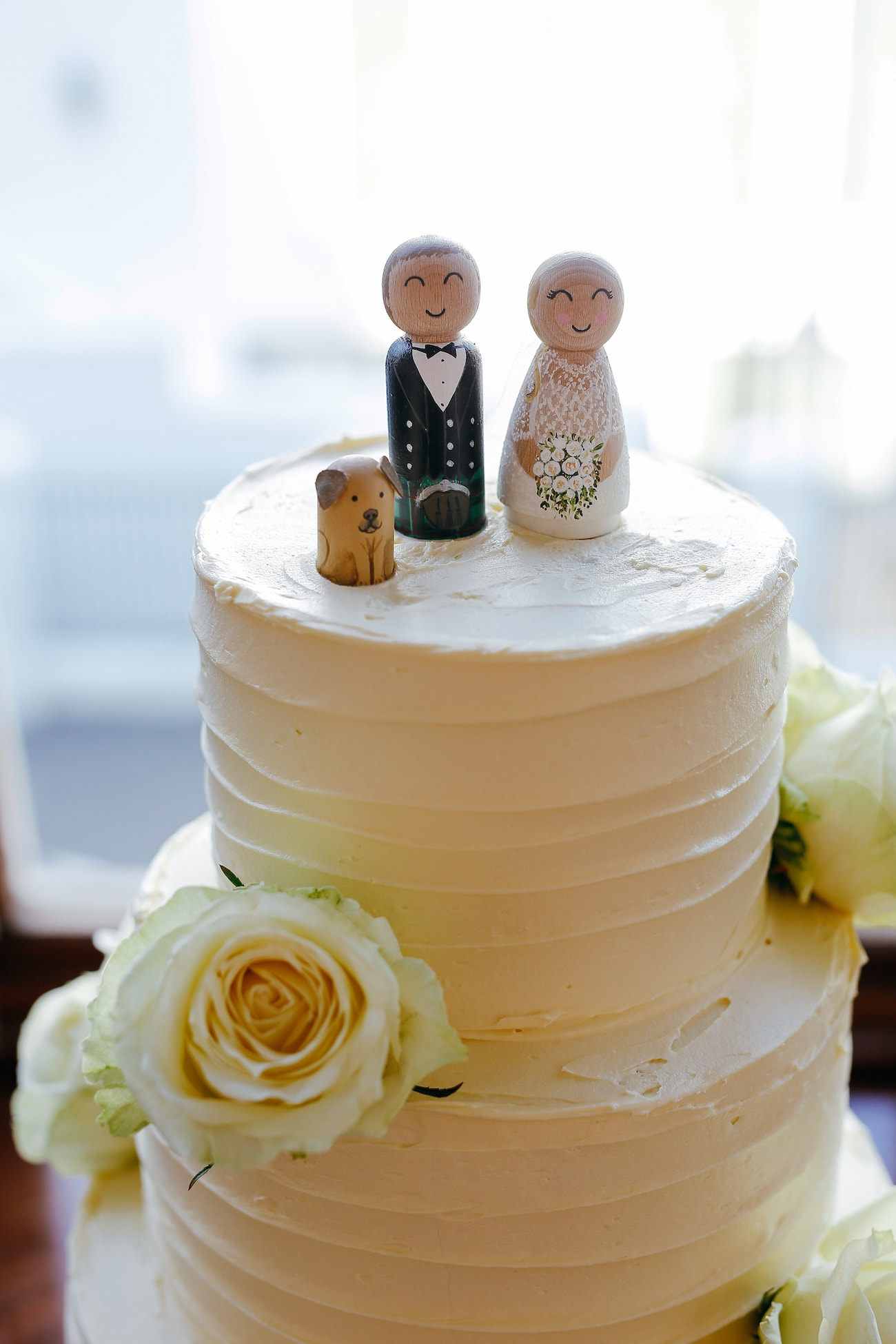 Custom Wood Cake Toppers | Vintage Chic City Wedding at the Cape Town Club | Credit: Duane Smith