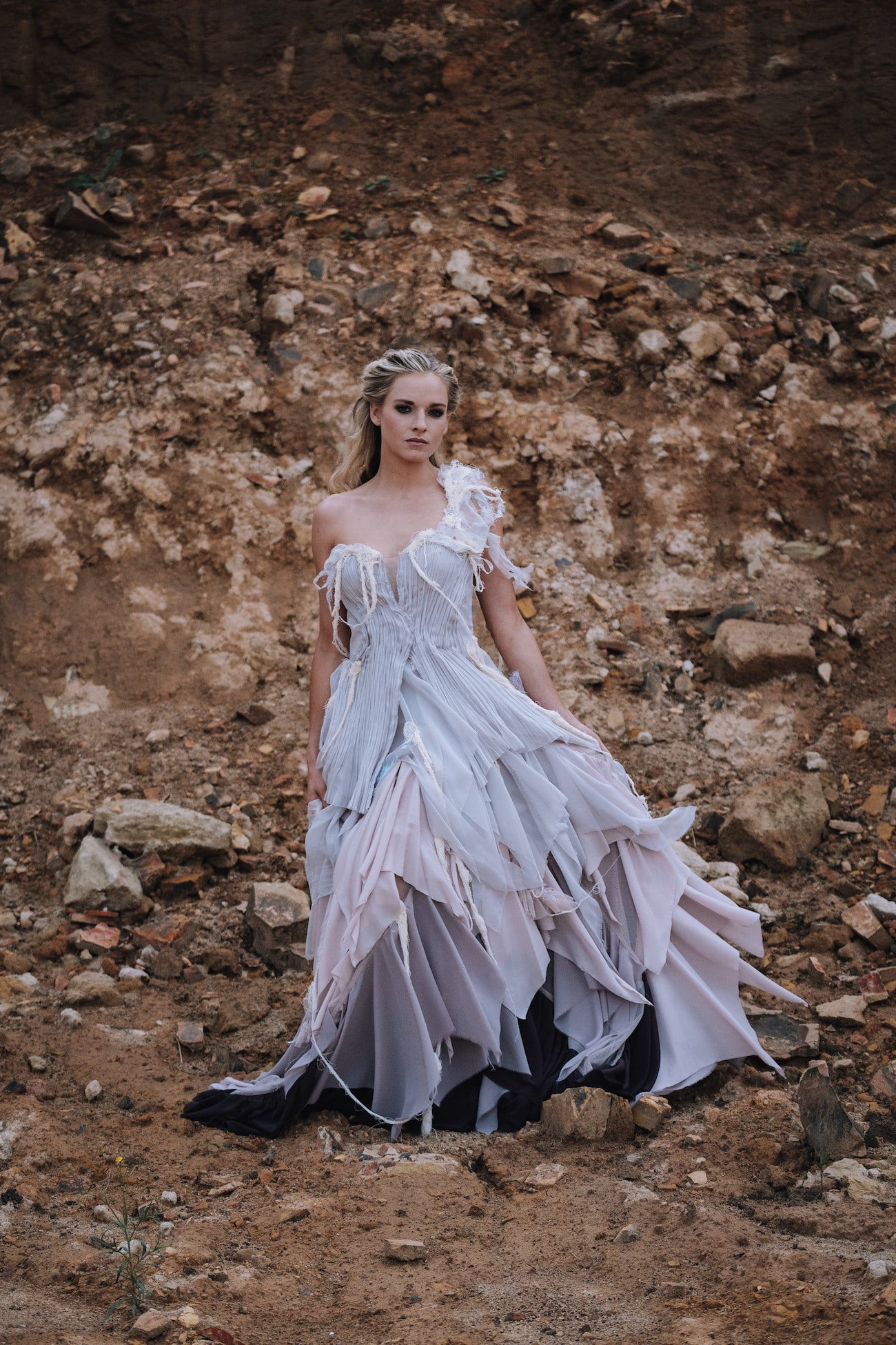 Bohemian Ombre Wedding Dress | Atmospheric Wedding Inspiration | Credit: The Shank Tank