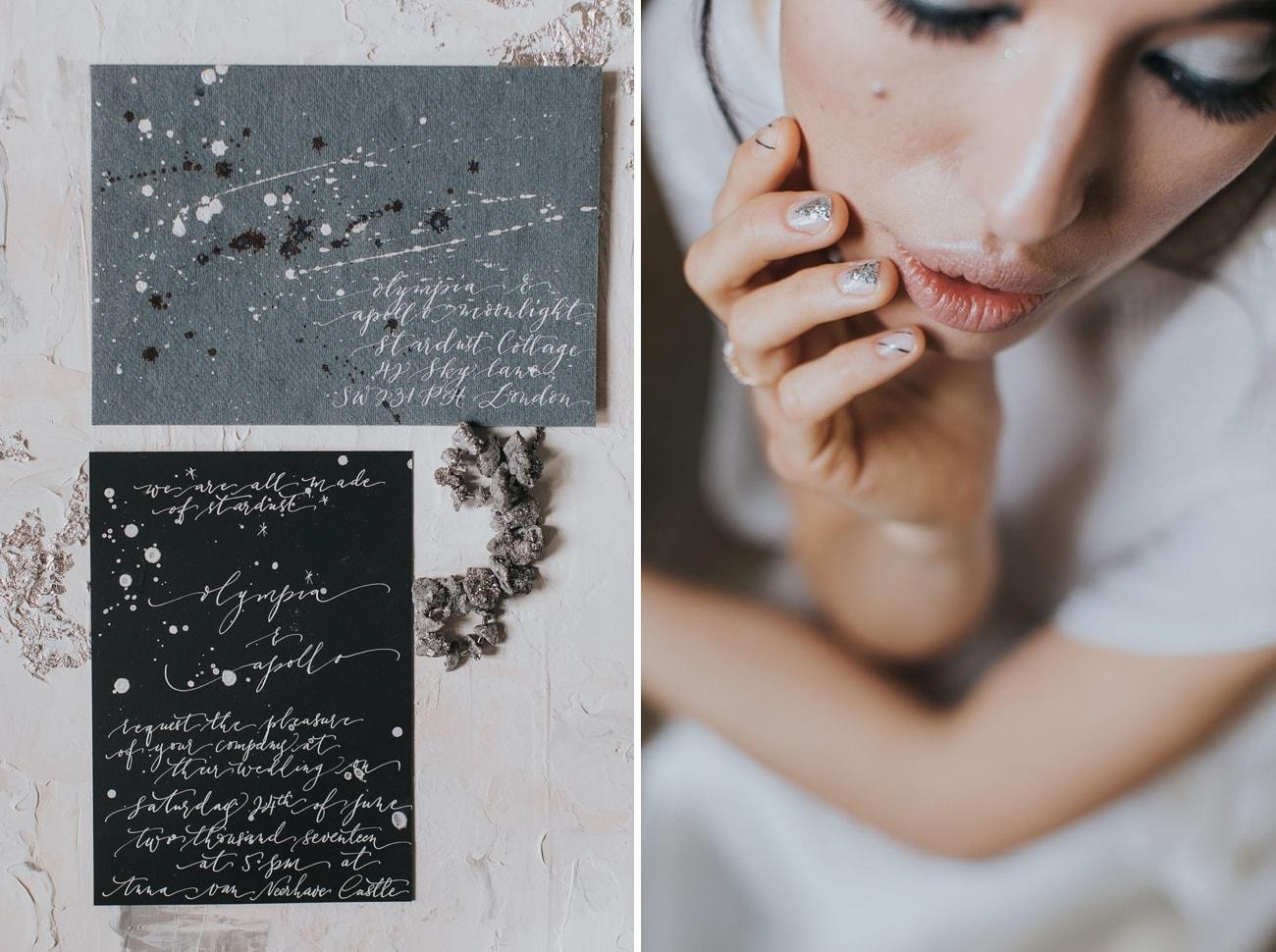 Star Themed Wedding Invitation | Credit: Cornelia Lietz