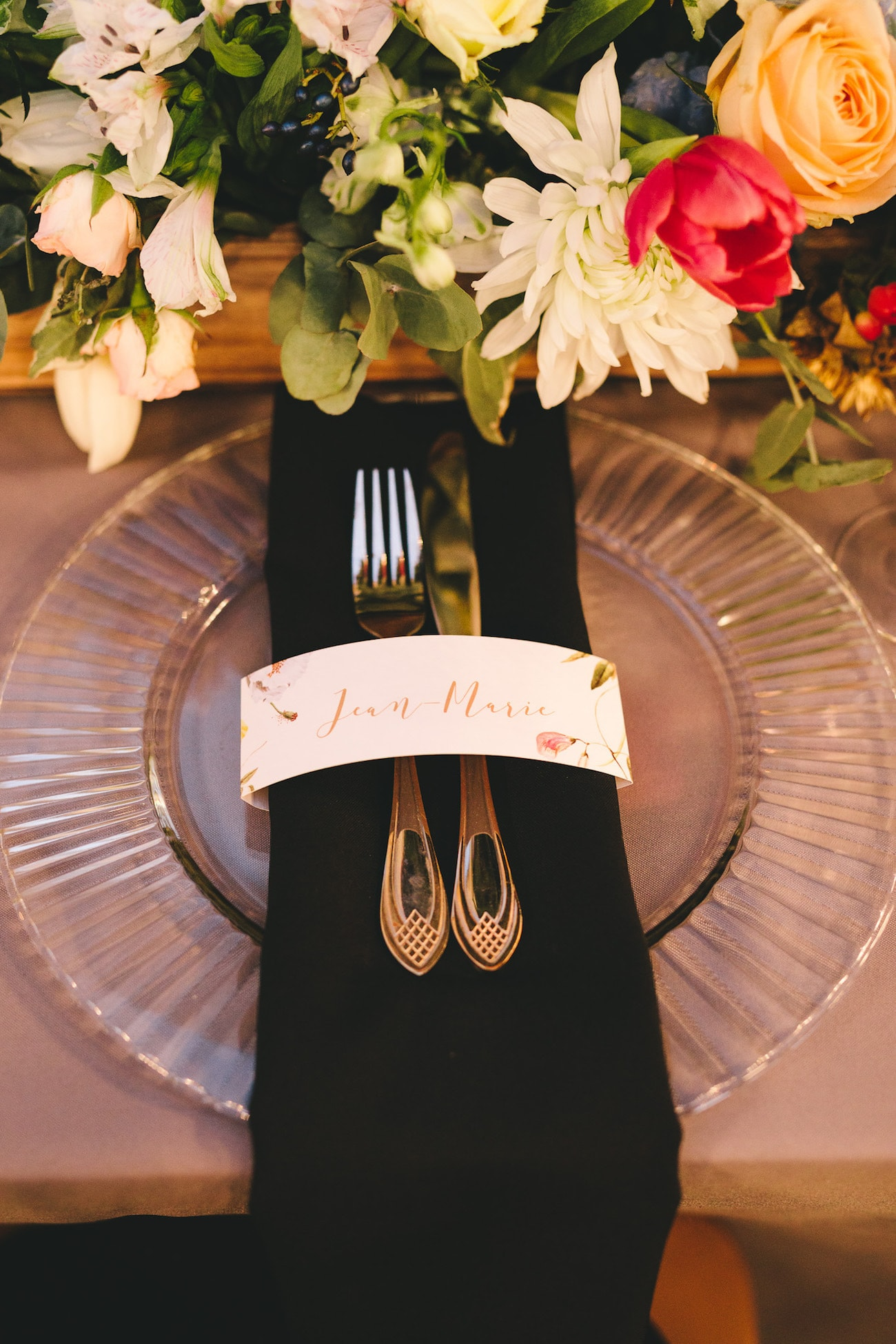 Colorful Place Setting | Credit: Charlie Ray Photography