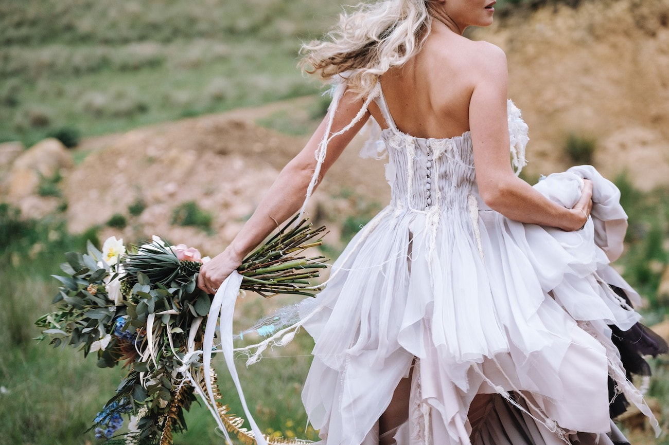 Boho Natural Bride | Atmospheric Wedding Inspiration | Credit: The Shank Tank