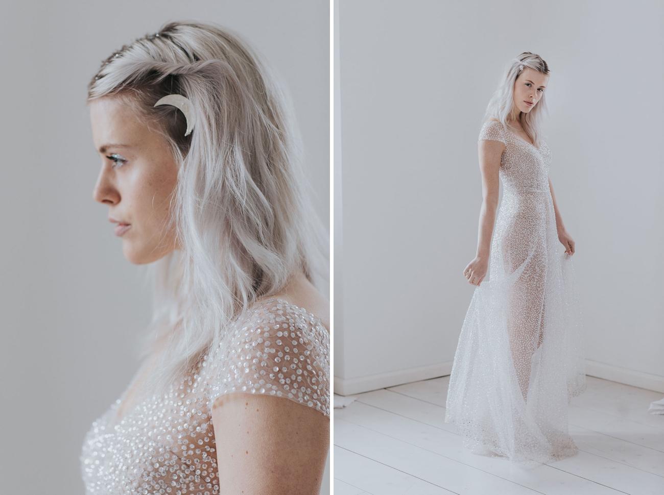 Celestial Sparkly Wedding Dress | Credit: Cornelia Lietz