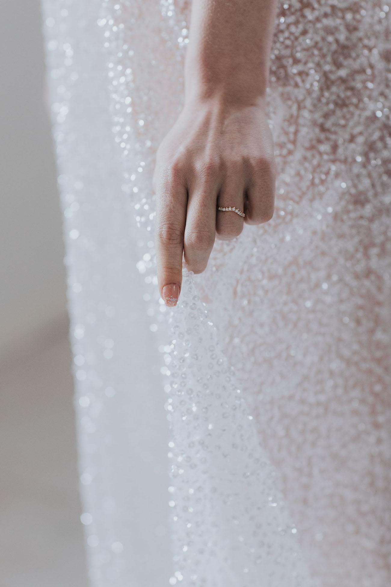 Shimmery Irridescent Wedding Dress | Credit: Cornelia Lietz