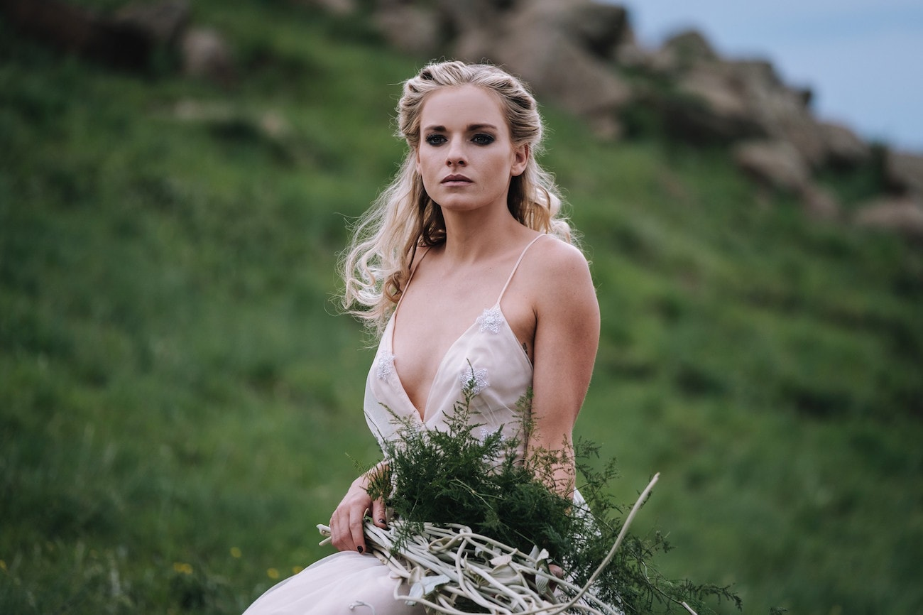 Boho Wedding Dress | Atmospheric Wedding Inspiration | Credit: The Shank Tank