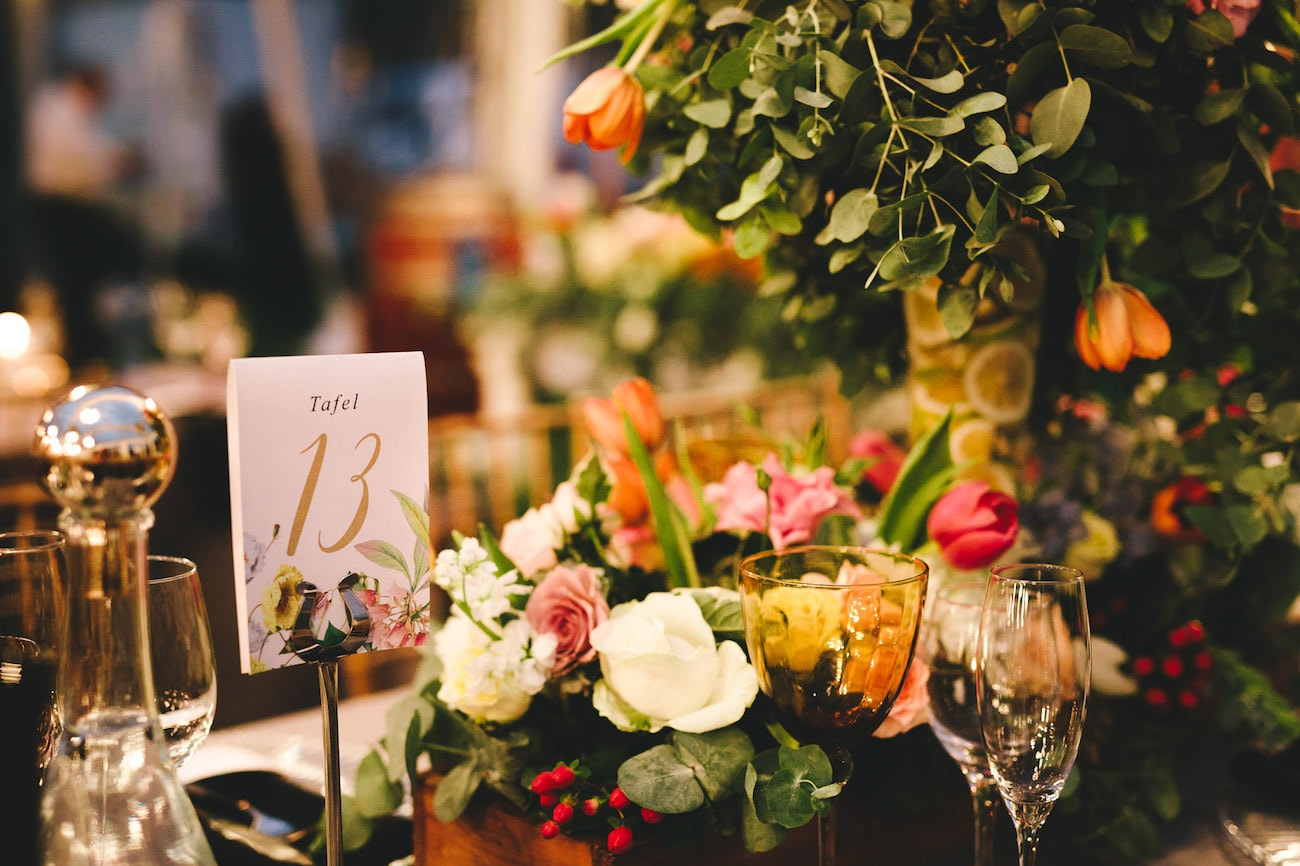 Botanical Print Table Numbers   Credit: Charlie Ray Photography
