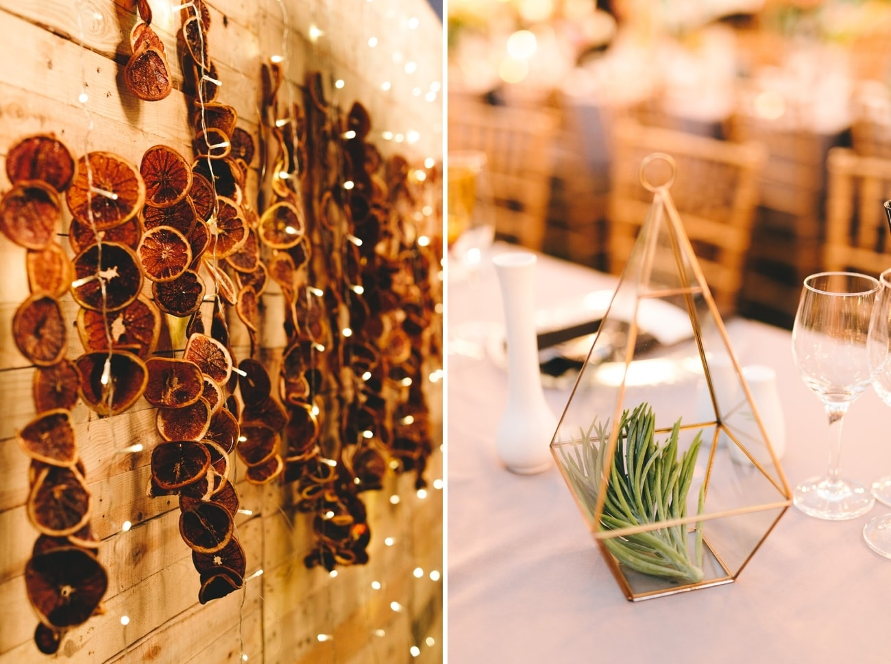 Citrus Slice Wedding Decor | Credit: Charlie Ray Photography