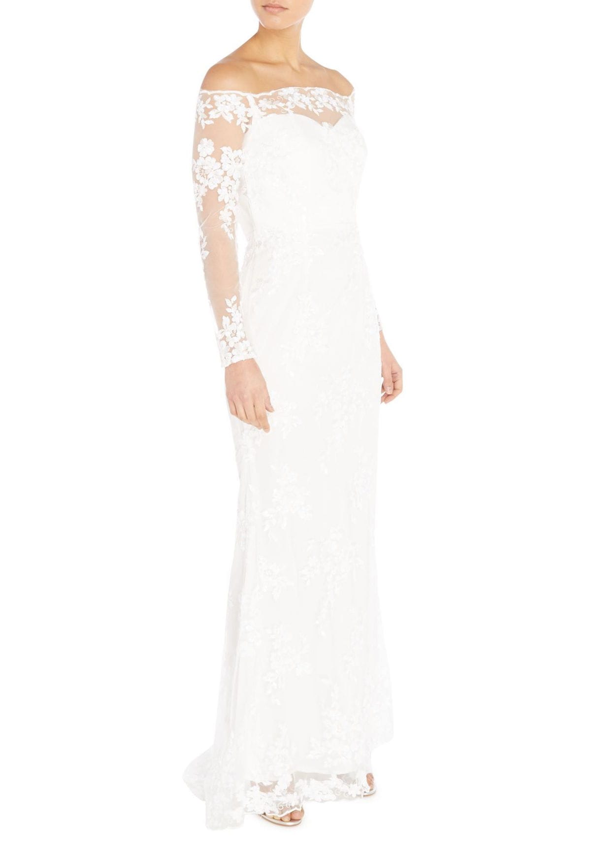 Bridal Gown With All Over Lace Detail By Little Mistress At House Of Fraser 200