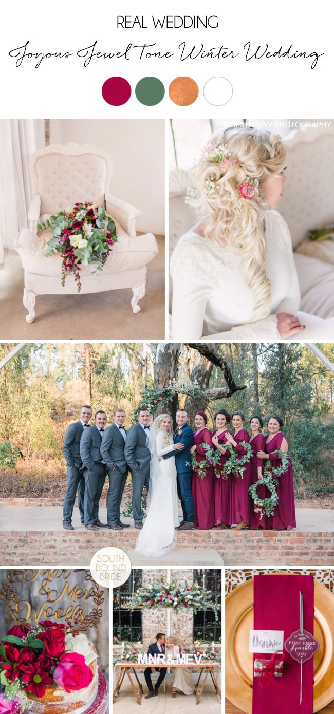 Joyous Jewel Tone Winter Wedding by Dust and Dreams Photography | SouthBound Bride